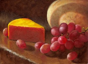 CheeseWedge&Grapes2